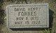 David Henry Forbes