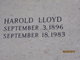 Profile photo:  Harold Lloyd Allen