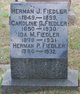 Profile photo:  Herman J. Fiedler