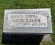 Bernice May <I>Curtis</I> Abercrombie