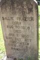 Sallie <I>Coleman</I> Frazier