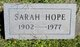 Sarah Hope Summers