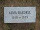 Profile photo:  Alma Baldree