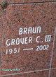 Profile photo:  Grover C Braun, III