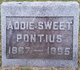 "Profile photo:  Ada ""Addie"" <I>Sweet</I> Pontius"