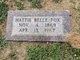 Hattie Belle <I>Fullerton</I> Fox