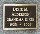 Profile photo:  Dixie M Alderson