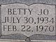 Profile photo:  Betty Jo <I>Melton</I> Adams