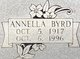Profile photo:  Annella Byrd <I>Bowman</I> Anderson