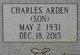 "Profile photo:  Charles Arden ""Son"" Atkinson"