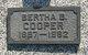Profile photo:  Bertha Bell Cooper