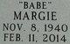 "Margie Marie ""Babe"" <I>Duke</I> Baird"