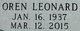 """Oren """"Leonard"""" Baird"""