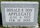 "Donald R. ""Don"" Applegate"