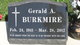 """Profile photo:  Gerald A. """"Jerry"""" Burkmire"""