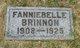 Profile photo:  Fanniebelle F Brinnon