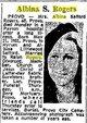 Profile photo:  Albina Cook <I>Safford</I> Rogers