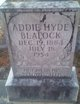 Addie <I>Hyde</I> Blalock