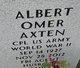 Profile photo:  Albert Omer Axten