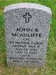 Profile photo:  John R. McAuliffe