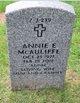 Profile photo:  Annie Ellen <I>Butterfield</I> McAuliffe