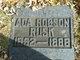 Profile photo:  Ada <I>Robson</I> Rusk