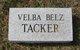 Velba D. <I>Tacker</I> Belz