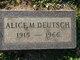 Profile photo:  Alice M Deutsch