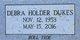 "Profile photo:  Debra Carol ""Debbie"" <I>Holder</I> Dukes"