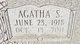Profile photo:  Agatha <I>Shelton</I> Bishop