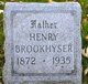 Profile photo:  Henry Brookhyser