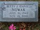 Profile photo:  Betty Jean <I>Daniel</I> Nowak
