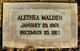 Profile photo:  Alethea Malden