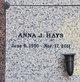 Profile photo:  Anna J Hays