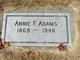Annie F Adams