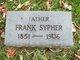 "Profile photo:  Francis ""Frank"" Sypher"