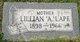"""Lillian Ann """"Elizabeth"""" <I>Tenoever</I> Lape"""