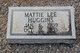 Mattie Lee <I>Stinson</I> Huggins