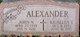 "Profile photo:  John N. ""Pop"" Alexander"