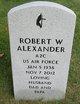 Profile photo:  Robert Warner Alexander