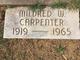 Profile photo:  Mildred <I>Worthy</I> Carpenter