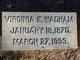 Virginia E <I>Pettigrew</I> Wadham