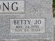 Profile photo:  Betty Jo <I>Clark</I> Cox