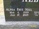 Alpha 'Faye' <I>Neel</I> Albert