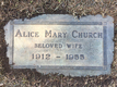 Profile photo:  Alice Mary Church