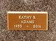 Profile photo:  Kathleen Blanche <I>McAdams</I> Adams