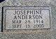 Profile photo:  Josephine <I>Daniel</I> Anderson
