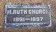 """Mary Ruth """"Ruth"""" <I>Miller</I> Church"""