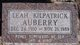 Leah D. <I>Kilpatrick</I> Auberry