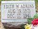 Profile photo:  Edith <I>Walker</I> Adkins